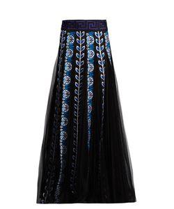 Mary Katrantzou | Pillar Embroidered Organza Maxi Skirt