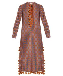 Figue | Paolina Graphic-Print Tassel Cotton-Blend Kaftan
