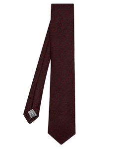 Dunhill | Polka-Dot Embroidered Wool And Silk-Blend Tie