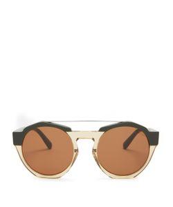 Marni | Bi-Colour Round-Frame Sunglasses