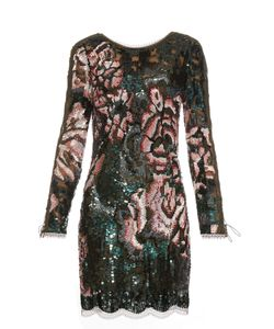 Roberto Cavalli | Long-Sleeved Sequin-Embellished Mini Dress