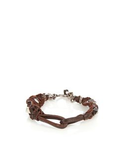 Valentino | Rockstud-Embellished Leather Bracelet