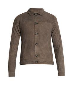 Oliver Spencer | Point-Collar Suede Jacket