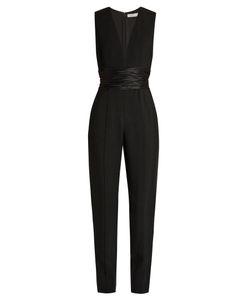 A.L.C. | Beni Ruched-Waist Crepe Jumpsuit
