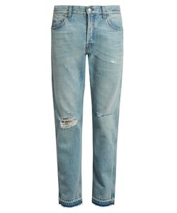 Gucci | Slim-Fit Cropped Distressed Jeans
