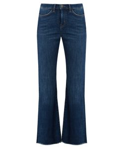 M.i.h Jeans | Lou High-Rise Flared-Leg Cropped Jeans