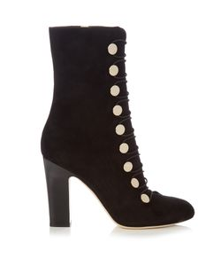 Jimmy Choo | Malta 100mm Suede Ankle Boots