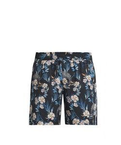 THE UPSIDE | Stretch Back Dragon-Print Shorts