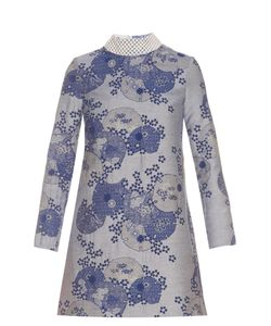 Shrimps | Hilary Jacquard Embellished-Neck Dress