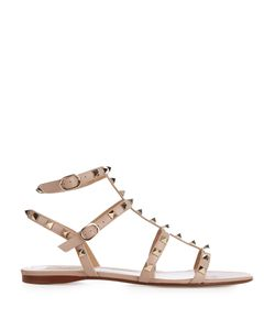 Valentino | Rockstud Leather Flat Sandals
