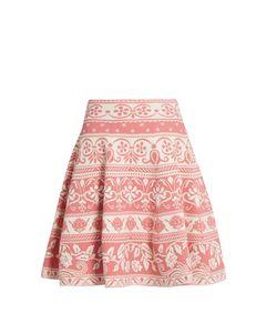 Alexander McQueen | Floral-Jacquard Knit Skirt