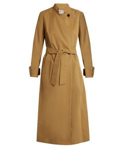 Osman | Nura Mandarin-Collar Cotton-Twill Trench Coat
