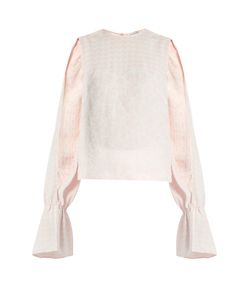 Osman | Petra Round-Neck Long-Sleeved Jacquard Top