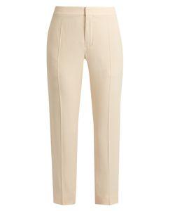 Chloé | Slim-Leg Cady Cropped Trousers