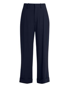 Chloé | Wide-Leg Cady Cropped Trousers