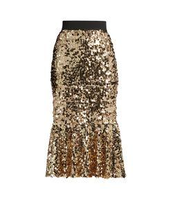 Dolce & Gabbana | Sequin-Embellished Midi Skirt