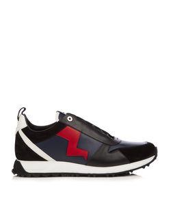 Fendi | Lightning Bolt-Appliqué Low-Top Leather Trainers