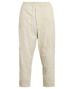 By Walid | Morton Embroidered-Panel Cotton Cropped Trousers