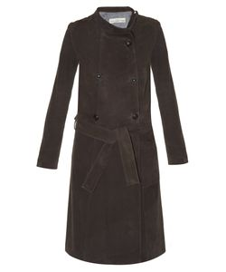 Golden Goose Deluxe Brand | High-Neck Suede Trench Coat