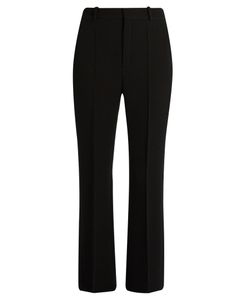 Chloé | High-Rise Wool-Crepe Kick-Flare Trousers