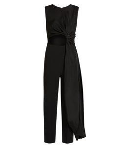 Roksanda | Thurloe Cut-Out Knot-Front Crepe Jumpsuit