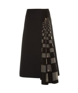 Fendi | Checked Gazar-Insert Midi Skirt