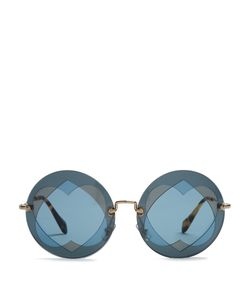 Miu Miu | Two Heart-Overlay Round-Frame Sunglasses