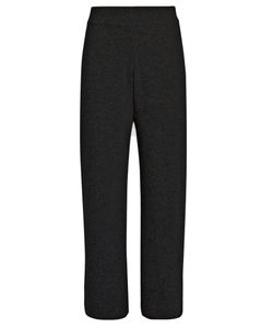 Le Kasha | India Wide-Leg Cashmere Cropped Trousers