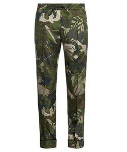 Valentino | Tropical-Print Silk-Crepe Trousers