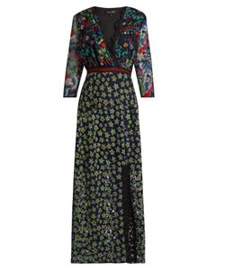 Saloni | Jennifer Floral-Embroidered Tulle Dress