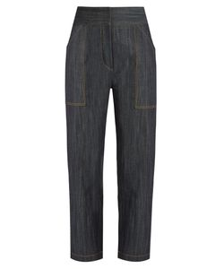 Adam Lippes | High-Rise Tapered-Leg Jeans