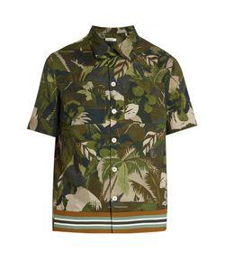 Valentino | Tropical-Print Short-Sleeved Cotton Shirt