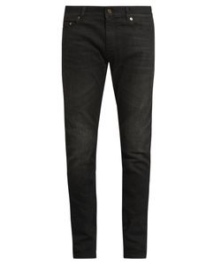 Saint Laurent | Skinny-Leg Faded Jeans