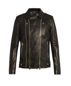 Balmain | Leather Biker Jacket