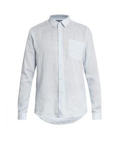 Vilebrequin | Caroubis Micro-Striped Button-Cuff Linen Shirt