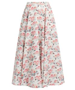 Emilia Wickstead | Eleanor Floral-Print Midi Skirt