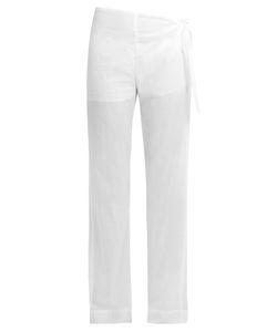 CASA NATA | Tie-Side Cotton-Voile Trousers