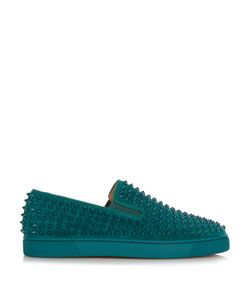 CHRISTIAN LOUBOUTIN | Roller-Boat Spike-Embellished Slip-On Trainers