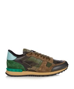 Valentino | Rockrunner Leather And Suede Low-Top Trainers