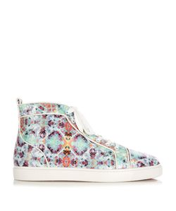 CHRISTIAN LOUBOUTIN | Louis Spike-Python Pixelated High-Top Trainers