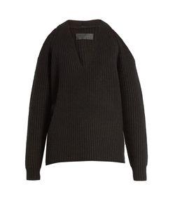 Nili Lotan | Celeste Cut-Out Shoulder Cashmere Sweater