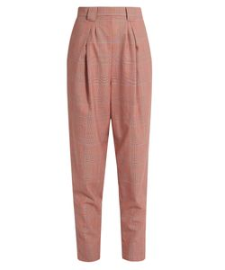 Rachel Comey | James High-Rise Tapered-Leg Wool-Plaid Trousers