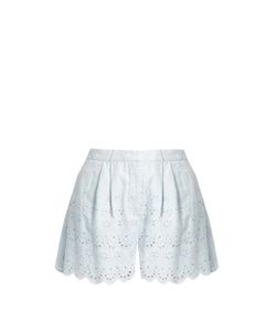 Zimmermann | Broderie-Anglaise Cotton And Silk-Blend Shorts