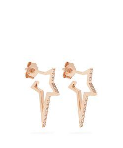Diane Kordas | Diamond Rose Mini Star Earrings