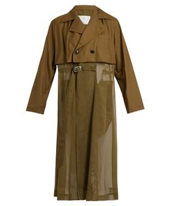 Toga | Sheer-Panel Trench Coat