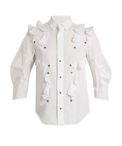 Toga | Ruffled Cotton-Poplin Shirt