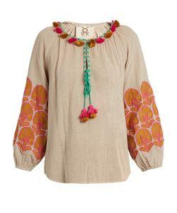 Figue | Coco Embroidered Cotton Top