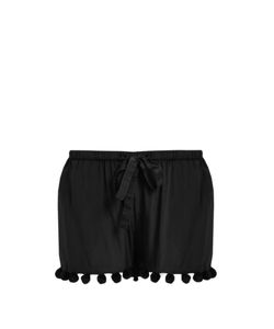 Figue | Maja Pompom-Embellished Silk Shorts