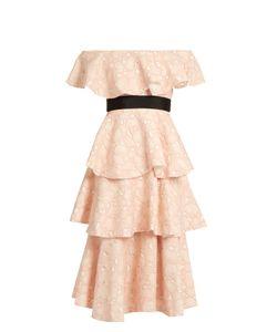 Huishan Zhang | Soren Cloud-Lace Off-The-Shoulder Dress