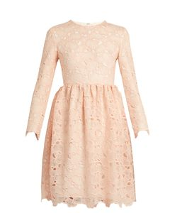 Huishan Zhang | Axelia Cloud-Lace Long-Sleeved Dress